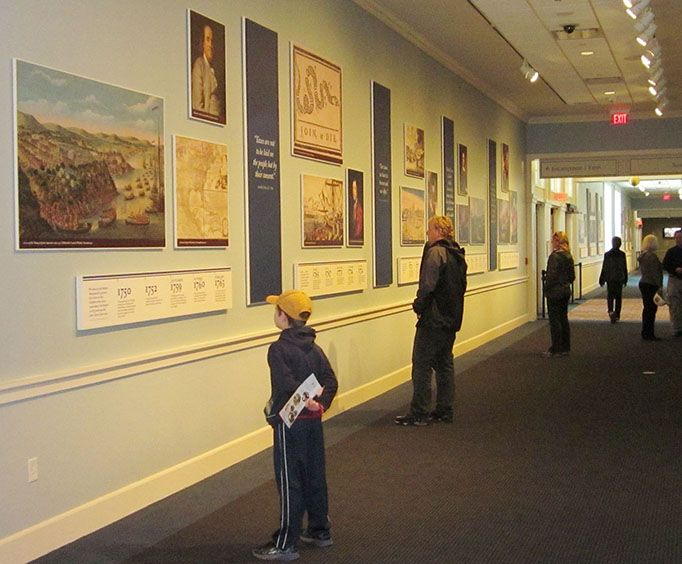 Halls of the Museum at the American Revolution Museum at Yorktown