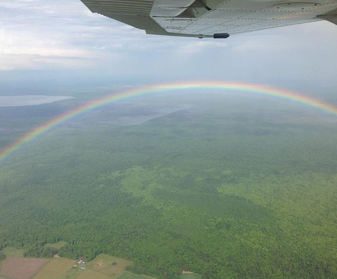 Rainbow View with the Williamsburg Flight Center Airplane Tours