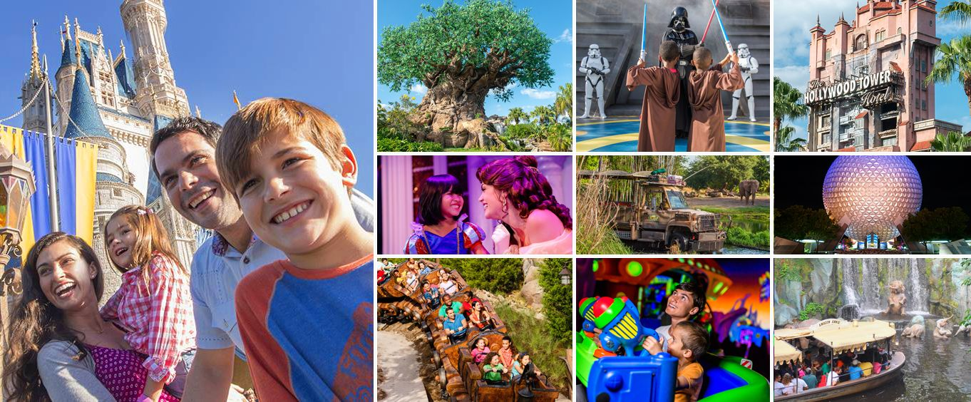 Walt Disney World Theme Parks Collage