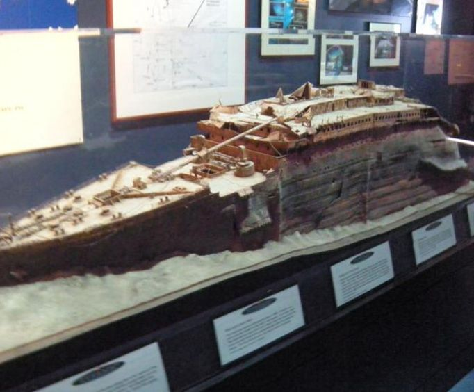 Model of the Titanic at the Titanic the Artifact Exhibition