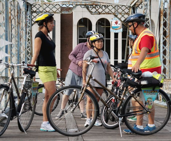 Guests Enjoying the New Orleans City Bike Tour