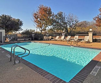 Outdoor Pool at Quality Inn Fort Worth