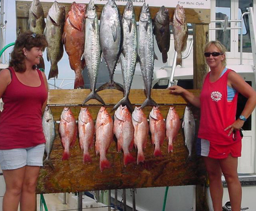Ladies with their catch