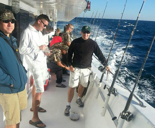 On the fishing charter