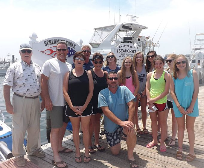 Group on the Dolphin Watch Cruise into Gulf of Mexico