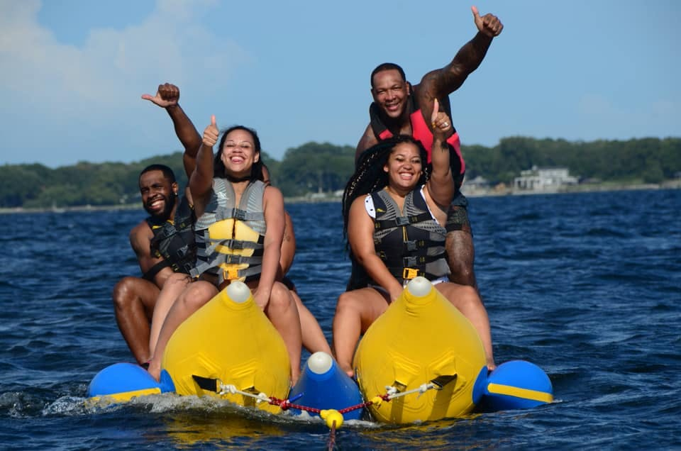 Couples on the Private Banana Boat Tour