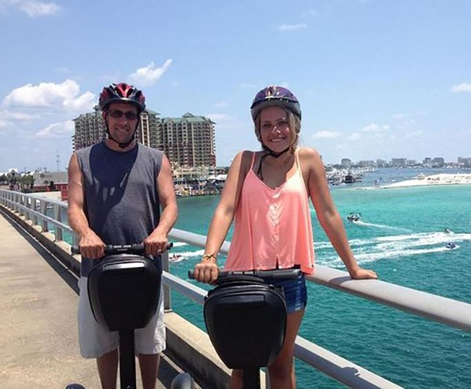 Couple on the Shore Thing Segway Tour