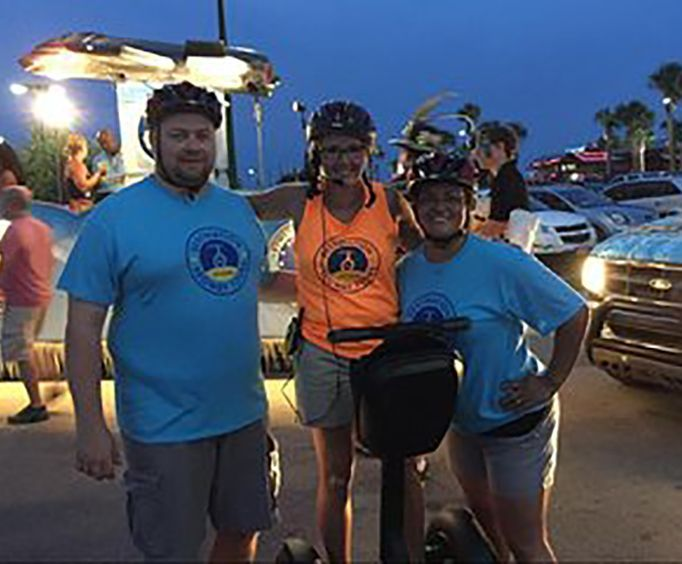 Having Fun on the Moonlight Glide Segway Tour in Destin