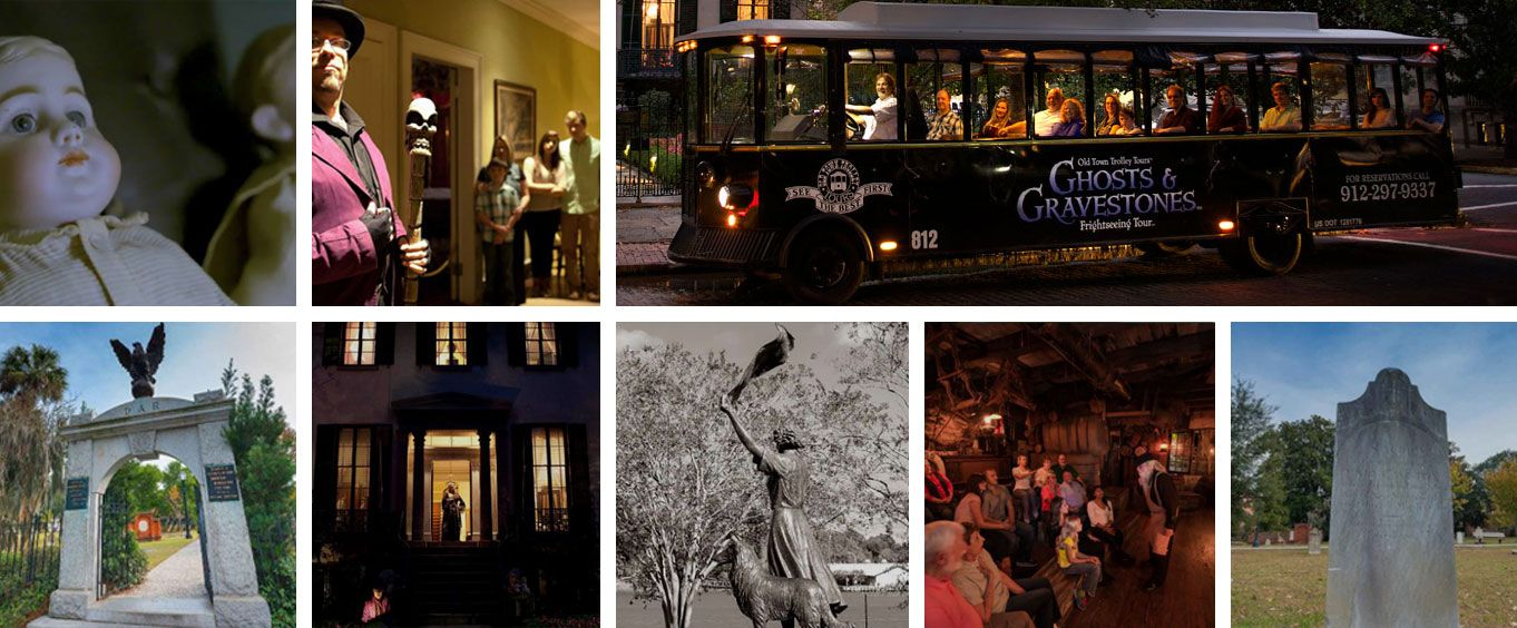 Sights on the Ghosts And Gravestones of Savannah Bus Tour