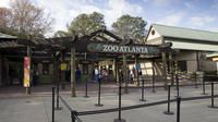Enter Zoo Atlanta's front gates.