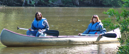 Guided Canoe Trips at the Audubon Center, canoeing