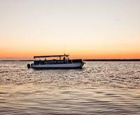 Boat for the Sunset Cruise on the Charleston Harbor