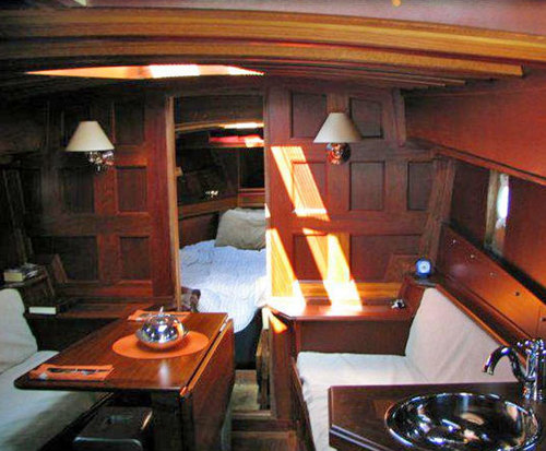 Inside of the boat