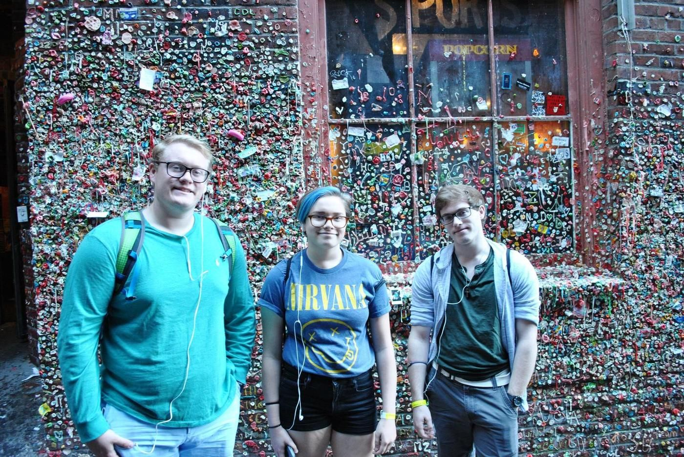 The infamous gum wall.