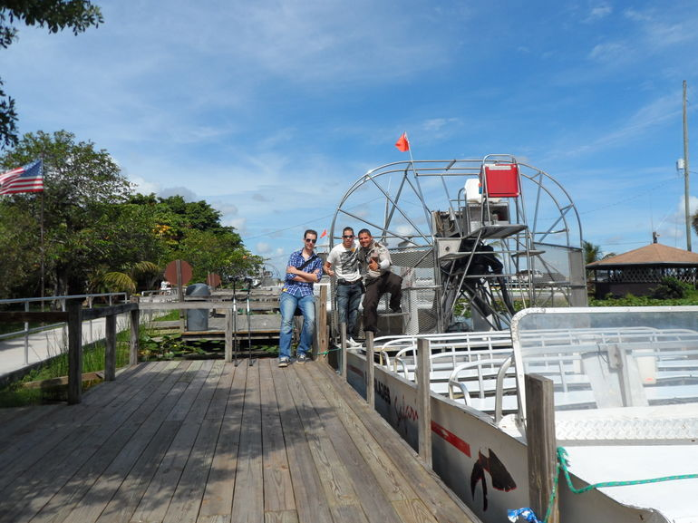 our airboat tourguide and us