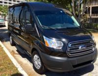 14 passenger black luxury Van