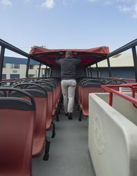 Tour comfortably in all conditions with retractable roofs on select buses