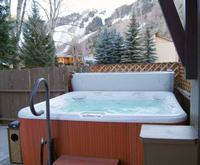 Outdoor Pool at Aspen Mountain Lodge