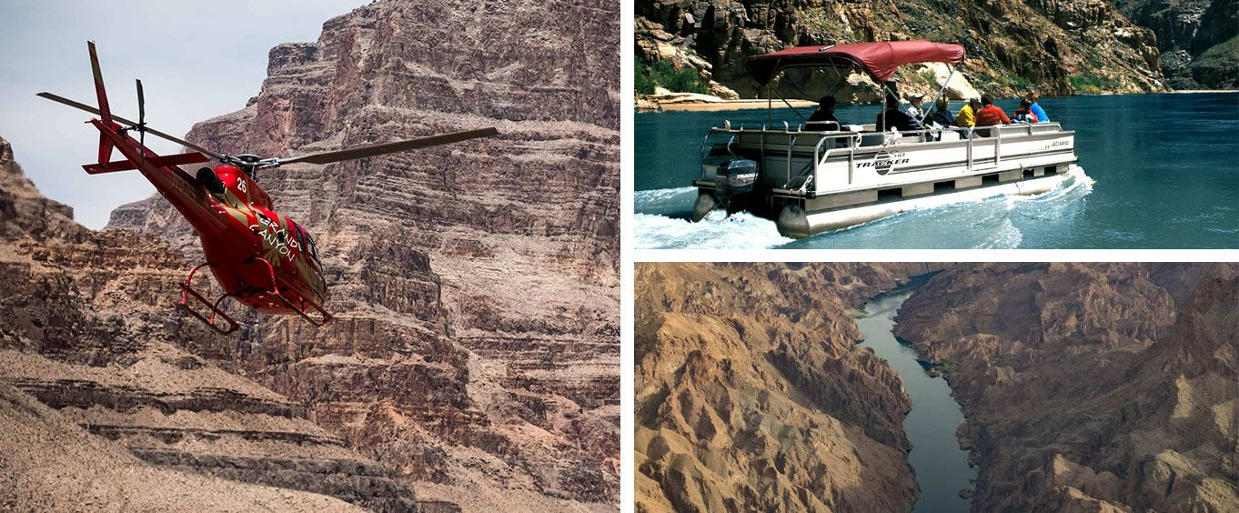 Experience Over the Edge Helicopter Tour and Pontoon Cruise