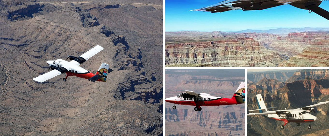 Explore with the Grand Canyon Landmarks Tour by Airplane