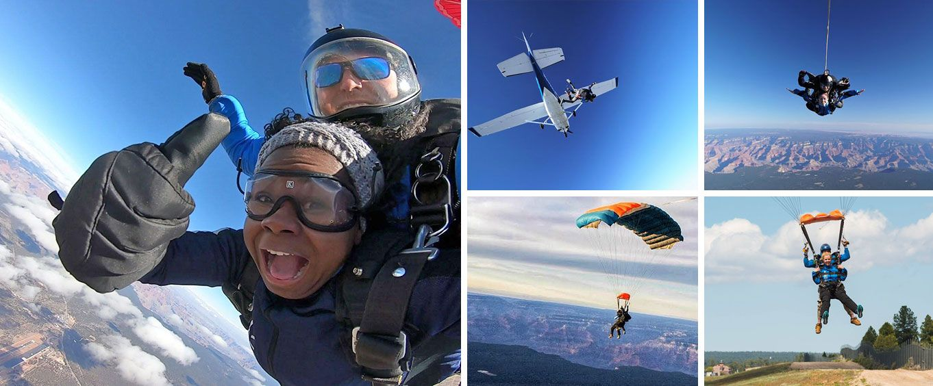 Skydive the Grand Canyon Collage