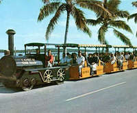 Visitors Ride the Conch Tour Train
