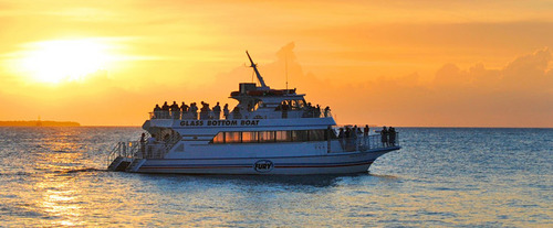 Boat with Key West Glass-Bottom Boat Tour with Sunset Option