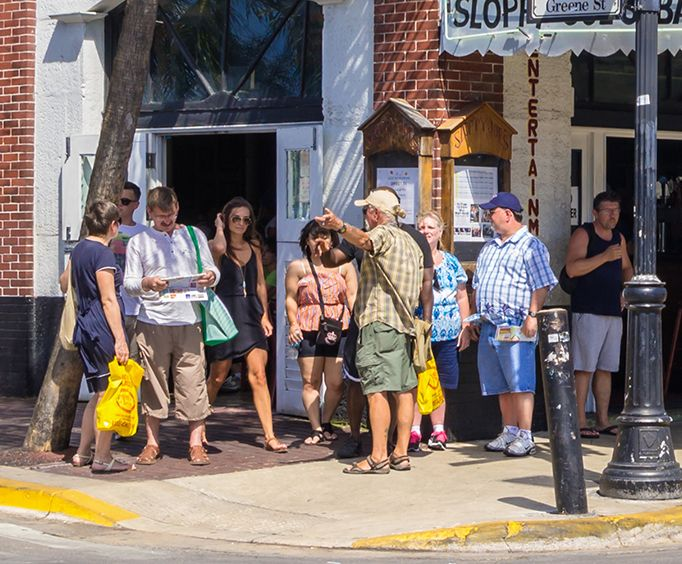 Group on the Historic Key West Walking Tour
