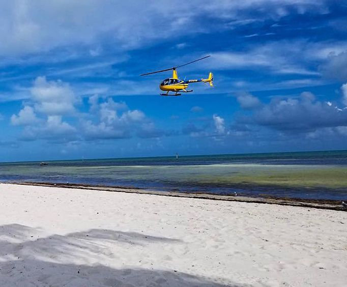 Over the Beach on the Ultimate Island Air Adventure