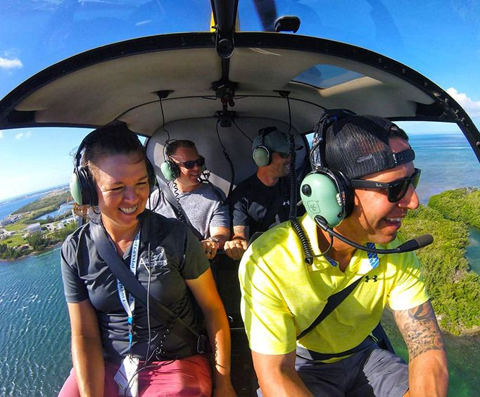 Group in a Helicopter with the Ultimate Island Air Adventure