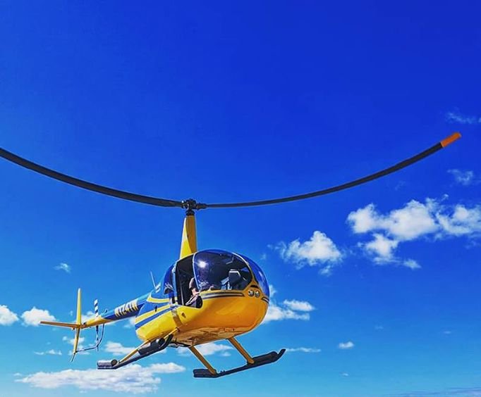 In the Blue Sky on the Ultimate Island Air Adventure