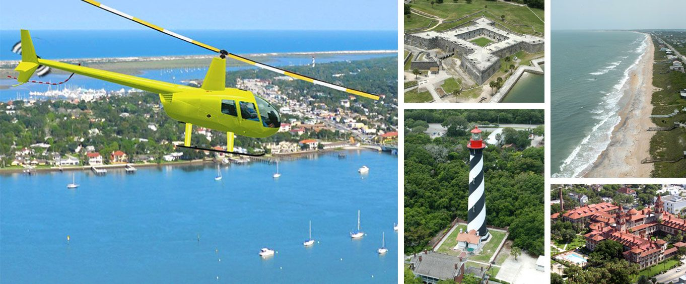 St. Augustine Beach and Old Downtown Helicopter Tour Special