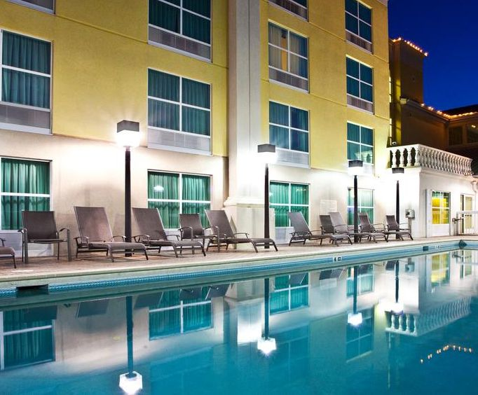 Outdoor Pool at Holiday Inn Hotel  Suites St Augustine-Hist District