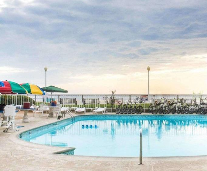 Outdoor Pool at Quality Inn  Suites Oceanfront - Atlantic Ave