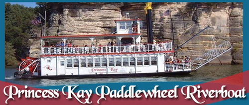 Princess Kay Paddlewheel Riverboat Sightseeing Cruise on the Wisconsin Dells