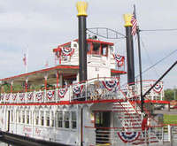 Princess Kay Paddlewheel Riverboat Sightseeing Cruise on the Wisconsin Dells, paddle boat