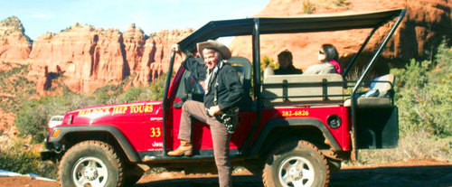 Red Rock Canyons, Dry Creek Basin & Van Derin Cabin Guided Jeep Tour