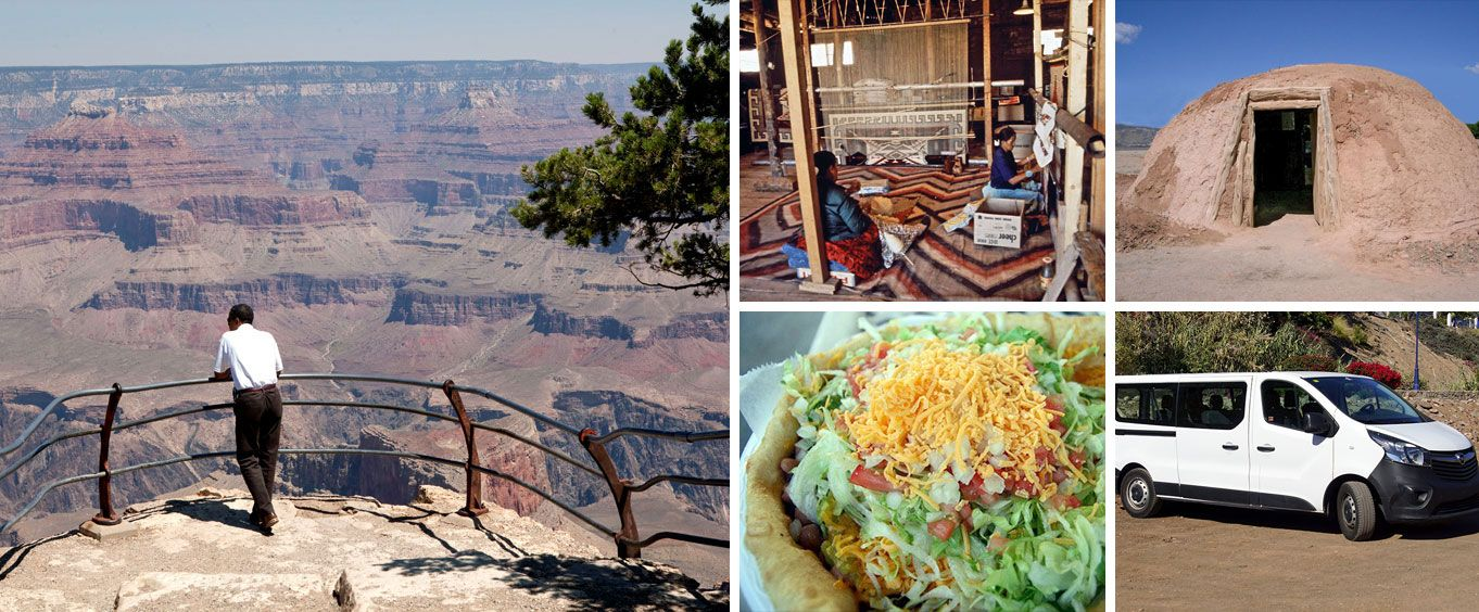 Grand Canyon Rim Walk and Navajo Reservation Guided Tour Collage