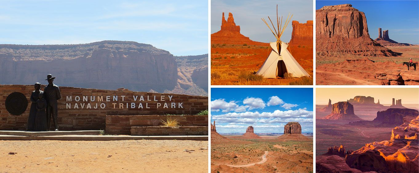Monument Valley Tribal Park and Navajo Indian Reservation with Lunch Full Day Tour Collage
