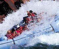 Grand Canyon Guided White Water Rafting, Hualapai Reservation & Helicopter Flight Full Day Tour with Lunch, aerial