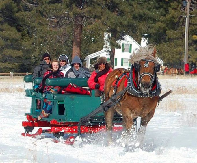Dashing Through the Snow with Sunset Sleigh Ride and Dinner