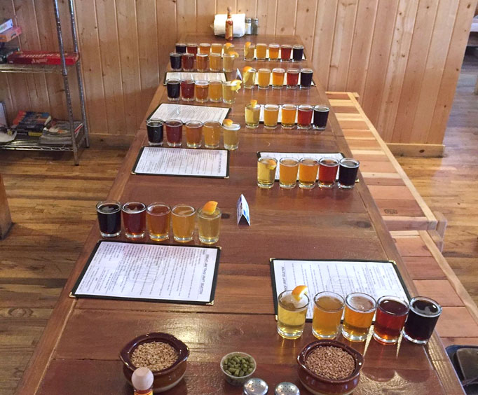 Flights at the Lake Tahoe Brewery Tours