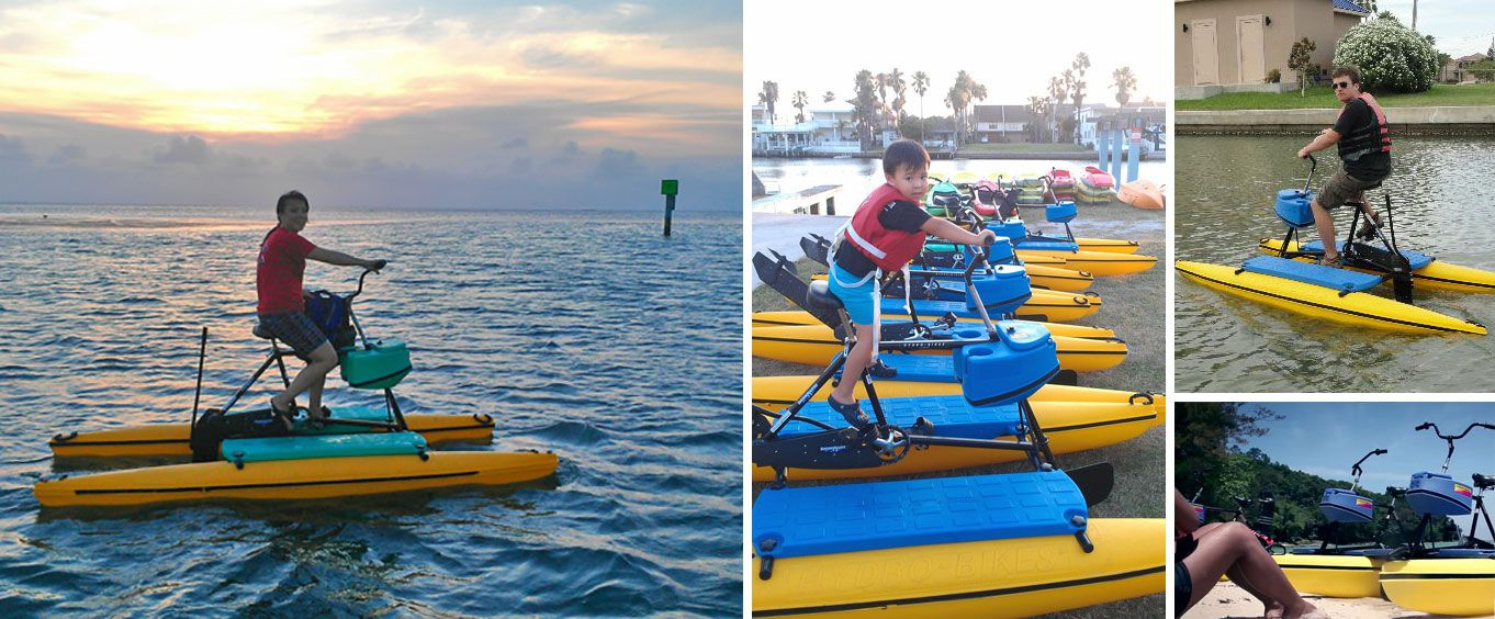 Water Bike Rental on South Padre Island Collage