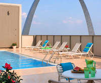 Outdoor Pool at Crowne Plaza Riverfront at the Arch