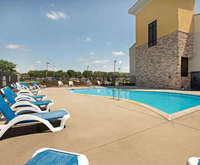 Outdoor Pool at LaQuinta Inn & Suites Detriot Metro Airport