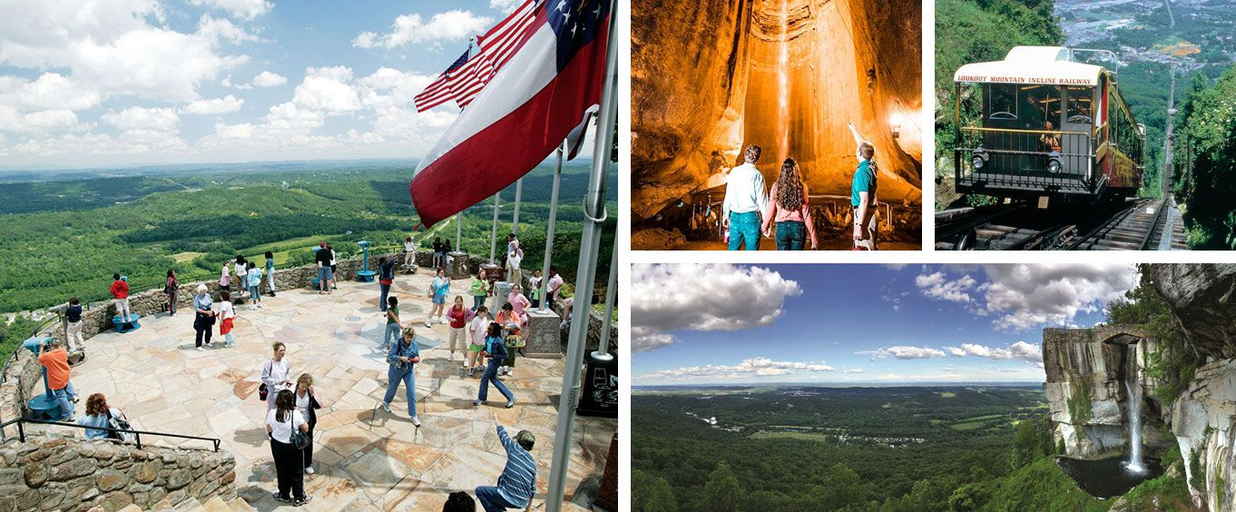 Lookout Mountain Attractions Collage