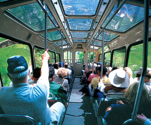 Incline Railway at Lookout Mountain Attractions, train