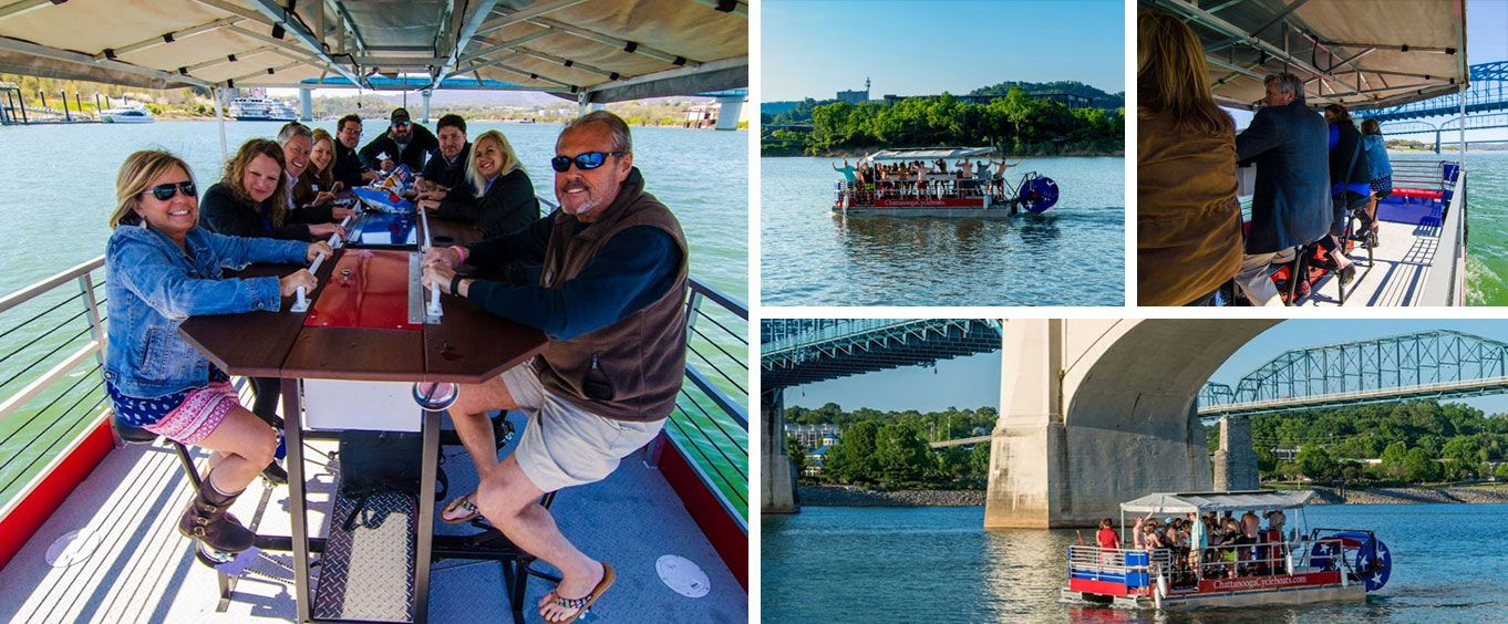 Chattanooga Cycle Boat River Cruise Collage