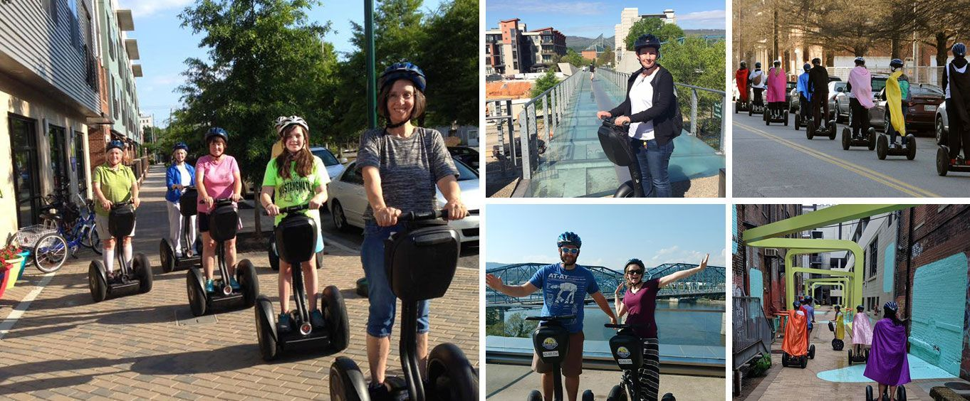 Historic Downtown Chattanooga Segway Tour Collage