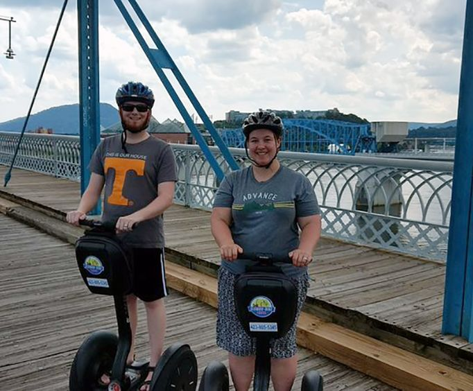 Couple on the Historic Downtown Chattanooga Segway Tour